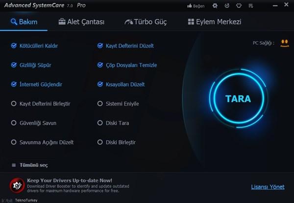 Advanced SystemCare Pro 8 Türkçe Full indir
