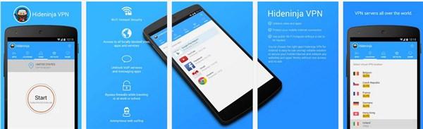 Hideninja VPN Elite Android Apk indir Yasaklı Sitelere Giriş