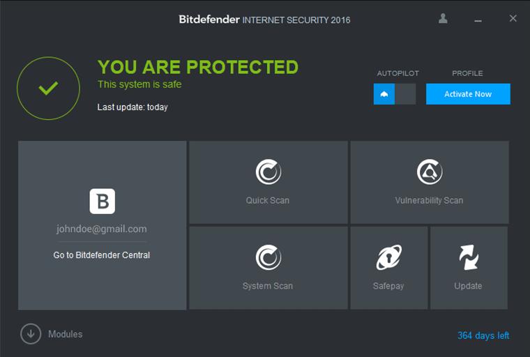Bitdefender Internet Security 2016 indir