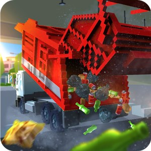 Blocky Garbage Truck SIM PRO Android Hile Mod Apk İndir