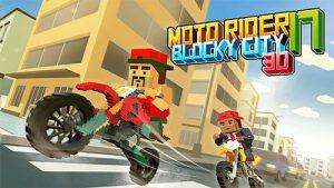 Moto Rider 3D Blocky City 17 Android Hileli Mod Apk indir