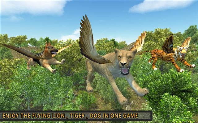 Aslan Uçan Vahşi Simulator Apk indir